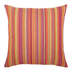 "ELAINE SMITH - Sorbet Stripe Pillow - MULTI COLORS - ELAINE SMITHSorbet Stripe PillowDetailsFrom designer Elaine Smith's Inconceivable Outdoor collection of luxury outdoor decor.Made of durable acrylic Sunbrella outdoor-safe fabric that is water stain mildew and fade resistant.Machine wash; air dry.20""Sq.Made in the USA."