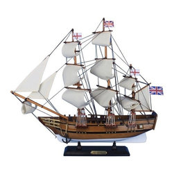 "Handcrafted Model Ships - HMS Beagle 20"" - Wooden Tall Ship - Sold Fully Assembled"