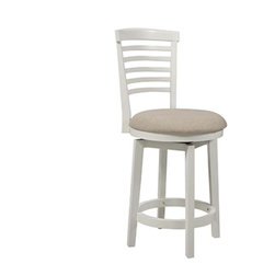 Powell - Powell 929-889 Big Tall White Wood Counter Stool - Big Tall White Wood Counter Stool by Powell
