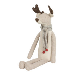 Maileg - Rudolph The Reindeer - Rudolph sits up perfectly and watches over your Christmas tree. Beautifully detailed with a cute scarf!