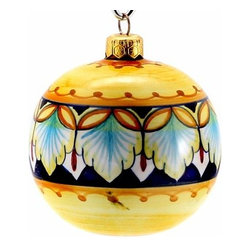Artistica - Hand Made in Italy - CHRISTMAS ORNAMENT: Deruta Vario - Round Ball Large - CHRISTMAS ORNAMENT