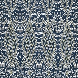 Schumacher - Maya Ikat Print Fabric, Indigo - 2 YARD MINIMUM ORDER
