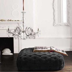 modern ottomans and cubes by Brocade Home