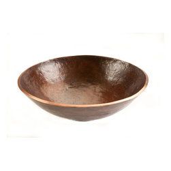 Premier Copper Products - Premier Copper Products PV16RDB Round Hand Forged Old World Copper Vessel Sink - Using century old techniques Premier Copper Products craftsman are now producing Hand Forged decorative artistic sinks. These sinks are Hand Forged from solid blocks of copper. This technique is very time consuming and therefore the line has a limited amount of production. These sinks are truly works of art!