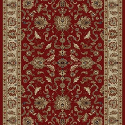"Concord Global - Concord Global Ankara Agra Red Oriental 2'2"" x 7'3"" Runner Rug (6510) - The Ankara collection is made of heavy heat-set olefin and has the look and feel of an authentic hand made rug at a fraction of the cost. New additions to the line include transitional patterns that are up to date in the current fashion trend. Made in Turkey"