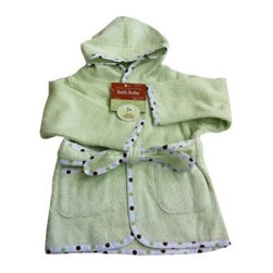 "American Baby Company Organic Terry Baby Bath Robe - Celery - This cozy organic terry robe is ideal for your baby's comfort and warmth. This adorable terry robe with dotted trim comes with a matching waist tie and two pockets. 100% organic cotton terry. For ages 0 - 9 months and up. Machine wash. About American Baby CompanyAmerican Baby Company, Inc. is a leading U.S. manufacturer of baby bedding that emphasizes high-quality comfort and safety. They are a leader in the industry at providing fast delivery of premium-quality products at reasonable prices. American Baby Company's bedding line coordinates with all types of nursery settings, and their solid color collection is updated annually to provide the latest """"in trend"""" colors. American Baby Company has been an innovator of products that meet the safety needs of their customers. Their safety crib sheet, which has been featured in leading baby and mothering magazines, is an example of this focus."