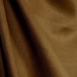 Kauf - Slubby Linen Hickory Solid Chocolate Brown Drapery Fabric By The Yard - A simple brown 100% Linen texture, Slubby Linen Hickory can be used in a multitude of applications from window treatments to upholstery.