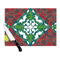 """Kess InHouse - Miranda Mol """"Lace Flakes"""" Cutting Board (11.5"""" x 15.75"""") - These sturdy tempered glass cutting boards will make everything you chop look like a Dutch painting. Perfect the art of cooking with your KESS InHouse unique art cutting board. Go for patterns or painted, either way this non-skid, dishwasher safe cutting board is perfect for preparing any artistic dinner or serving. Cut, chop, serve or frame, all of these unique cutting boards are gorgeous."""