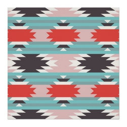 Aztec Tribal Pattern Native American Print - Want a way to add mature prints to kids' spaces? Look no further. A young color scheme gives tribal art a great excuse to go in your children's room.