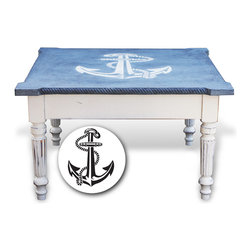 Nautical Old World Coffee Table - Cliff Hand