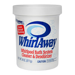 Chemique - WHIRLAWAY Whirlpool Bath System Cleaner and Deodorizer, Hot Tubs & Spas, 8 Oz - Whirlaway is a whirlpool bath system cleaner and deodorizer formulated for the safe and efficient cleaning, deodorizing, and stain removal of internal bath circulation systems. When used regularly, Whirlaway eliminates odors and corrosion-causing sulfides and cleans internal piping of soap scum, mineral deposits, mold, mildew, algae, and bath and body oils that cause bacteria growth. Using a cleaner on your whirlpool tub at least once a month is recommended, to keep it clean and free of contamination.
