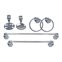 Moen - Moen Decorator Chrome 6 Piece Bath Accessory Kit - Add a classic touch to your bathroom decor with this Moen 6-piece bath kit. Bathroom accessories feature a chrome finish.