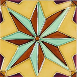 "Glass Tile Oasis - Nova 6"" x 6"" Yellow 6"" x 6"" Deco Tiles Glossy Ceramic - Tile Size:  6"" x 6""     Sold by the piece     - All ceramic tiles are hand painted. Glazed thickness will vary from tile to tile  resulting in color variation. Hand-Painted Ceramic tiles will craze and crackle over time  which is intentional and a desired effect."