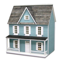 Real Good Toys - Real Good Toys Finished Farmhouse Dollhouse Kit - 1/2 Inch Scale - 00085-B - Shop for Dollhouses and Dollhouse Furnishings from Hayneedle.com! The handsome Real Good Toys Finished Farmhouse Dollhouse Kit - 1/2 Inch Scale recalls the grand dwellings of yesteryear. This spacious 3-story country-style design with eight rooms offers enough space for family and hired help alike. It comes to you preassembled. The smooth interior walls with baseboards and crown moldings are already painted but can be repainted or papered as you wish. A trio of window boxes awaits your green thumb. Crafted from durable 0.375-inch thick MDF this house features sturdy milled clapboard exterior walls. Other features include an open back fully assembled railing and front door with interior trim ready-to-finish hardwood flooring and preassembled staircase landing rails windows and shutters. About Real Good ToysBased in Barre Vt. Real Good Toys has been hand-crafting miniature homes since 1973. By designing and engineering the world's best and easiest to assemble miniature homes Real Good Toys makes dreams come true. Their commitment to exceptional detail the highest level of quality and ease of assembly make them one of the most recommended names in dollhouses. Real Good dollhouses make priceless gifts to pass on to your children and your children's children for years to come.