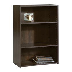 Sauder - Sauder Beginnings 3-shelf Bookcase Multicolor - 409086 - Shop for Bookcases from Hayneedle.com! Whether you prefer classic or contemporary in literature or in furniture the Sauder Beginnings 3-shelf Bookcase is the perfect piece for transitional tastes. Its elegant cherry finish makes it a versatile book or display case for offices bedrooms front rooms and more. Complete with adjustable shelves this bookcase can be easily paired with another to create a larger fuller library. Assembly required. Shipped with Sauder's TransGuard package protection which features hard cardboard edging and shrink-wrap film on the carton to ensure your delivery arrives damage-free.About SauderSauder is North America's leading producer of ready-to-assemble (RTA) furniture and the nation's fifth largest residential furniture manufacturer. Based in Archbold Ohio Sauder also sources furniture from a network of quality global partners including a line of office chairs that complement its residential and light commercial office furniture. Sauder markets more than 30 distinct furniture collections in a full line of RTA furnishings for the home entertainment home office bedroom kitchen and storage.Sauder is a privately held third-generation family-run business. The company prides itself on its awareness that all function and no fashion makes for a dull living space when it comes to home furnishing products. That's why Sauder's award-winning design team has produced more than 25 collections of stylish furniture that span the design spectrum. From minimalist modern or contemporary to classic 18th century or country styles Sauder has what you're looking for. The company offers more than 500 items - most priced below $500 - that have won national design awards and generated thousands of letters of gratitude from satisfied consumers.