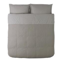 MALOU Duvet cover and pillowsham(s) - Duvet cover and pillowsham(s), light brown