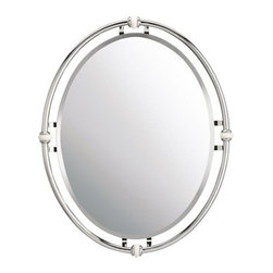 Kichler - Kichler 41067CH Modern Rounded Mirror from the Pocelona Collection - *Circular Beveled Mirror