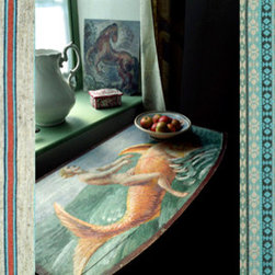 """Calico Blog: Pattern on Pattern - The Bloomsbury Group - """"Consider every possible surface of the house an opportunity to express yourself creatively and add a personal touch: floors, walls, ceilings, mantels, furniture, doors, baseboards..."""""""