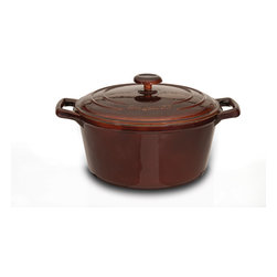 Berghoff - Berghoff Neo Cast Iron Covered Casserole 2.5 qt. - Cast iron has great heat retaining abilities and can be used on any heat source. Classic in a modern design, solid material for all your cooking needs!