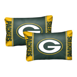 The Northwest Company - NFL Green Bay Packers Pillowcase Set Football Logo Bedding - FEATURES: