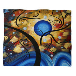 DENY Designs - Madart Inc So Endearing Fleece Throw Blanket - This DENY fleece throw blanket may be the softest blanket ever! And we're not being overly dramatic here. In addition to being incredibly snuggly with it's plush fleece material, it's maching washable with no image fading. Plus, it comes in three different sizes: 80x60 (big enough for two), 60x50 (the fan favorite) and the 40x30. With all of these great features, we've found the perfect fleece blanket and an original gift! Full color front with white back. Custom printed in the USA for every order.
