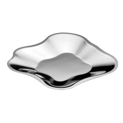 Iittala - Aalto Stainless Steel Tray - Small - Iittala - Alvar Aalto famously never dictated how his iconic glass vases should be used.