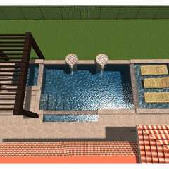 contemporary pool by Tracy Allen