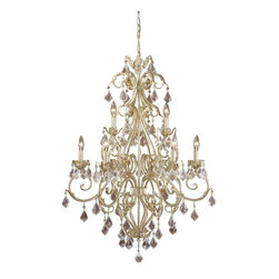 Vaxcel - Newcastle Gilded White Gold 40 in. Chandelier - Dimensions: 29 in. W x 29 in. L x 40 in. H.
