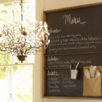 Rustic Wall Organizer - There's no better way to plan a week's worth of meals or write down a to-do list than with this large chalkboard. Each week you can start anew and have fun with different chalk colors.