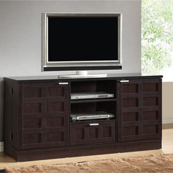 Tosato Brown Modern TV Stand and Media Cabinet -