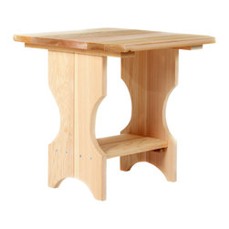 All Things Cedar - All Things Cedar ST24U Adirondack Magazine Table - A Perfect NicNack Table - Designed To Compliment Our AA21 and AC22    Dimensions:   21 x 21 x 21 in. (w x d x h)