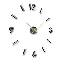 Cupecoy - DIY Metal Wall Clock - Create a unique wall clock design that expresses your own personal sense of time! The DIY Metal Wall Clock is designed so that you can place the numbers wherever and however you wish! The possibilities are limitless - construct a conventional clock, or abstract wall art from your imagination. They say that time is relative, and this clock conveys this perfectly.