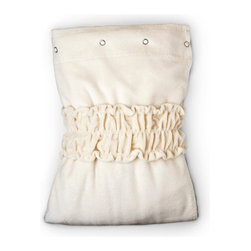 """Gilden Tree - Velour Spa Wrap - Regular - Cream - Velvety soft Velour Spa Wrap was designed for professional spa use and has been called """"the Gold Standard"""" of spa wraps.  It's the perfect little daily luxury for your home spa or bathroom.  Use it just out of the shower or bath or while applying makeup.  Clever tow of snaps across the chest helps them fit a wide range of sizes comfortably, and design features a generous front overwrap for comfort. Hemline is below the knee."""