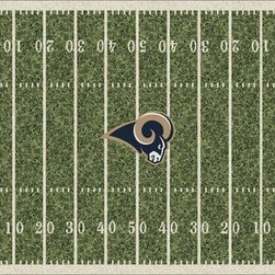 Milliken & Company - St. Louis Rams Rectangular: 5 Ft. 4 In. x 7 Ft. 8 In. Rug - -Rich Team Colors, Diversity of NFL Designs,Stainmaster Treatment 10 year wear warranty  -Tufted  -Incorporates AlphaSan Antimicrobial  Milliken & Company - P533321-C01087-S201