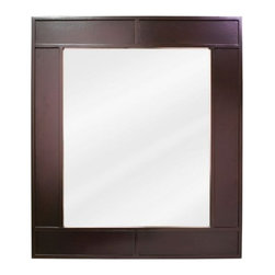 Jeffrey Alexander - Jeffrey Alexander MIR042 Manhattan Collection Rectangular 26 x 30 Inch Bathroom - This fashionable vanity mirror from Jeffrey Alexander's Manhattan Collection features a rectangular, portrait-hung design that's perfect for complementing a variety of bathroom decor. Boasting hand-carved details and gorgeous beveled glass, this mirror is the ideal choice for completing any bathroom makeover.Vanity Mirror: Designed to accompany the Jeffrey Alexander vanity VAN042. This mirror looks great as either part of a vanity set, or as a standalone accessory. Features:
