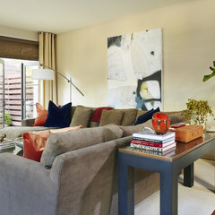 contemporary family room by Denise McGaha Interiors
