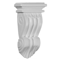 """Ekena Millwork - 3 3/4""""W x 1 7/8""""D x 7 1/8""""H Norwich Pilaster Corbel - 3 3/4""""W x 1 7/8""""D x 7 1/8""""H Norwich Pilaster Corbel. These corbels are truly unique in design and function. Primarily used in decorative applications urethane corbels can make a dramatic difference in kitchens, bathrooms, entryways, fireplace surrounds, and more. This material is also perfect for exterior applications. It will not rot or crack, and is impervious to insect manifestations. It comes to you factory primed and ready for your paint, faux finish, gel stain, marbleizing and more. With these corbels, you are only limited by your imagination."""