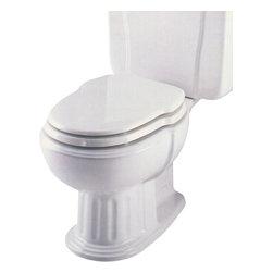 Incepa - Eljer Savannah Incepa Hampton Elongated Custom Seat, Biscuit - Replaces Eljer Savannah or Incepa Hampton toilet seats produced from 1989 to 2008