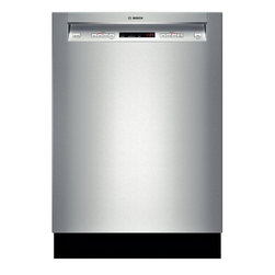 """Bosch 24"""" Recessed Handle 300 Series Dishwasher, Stainless Steel 