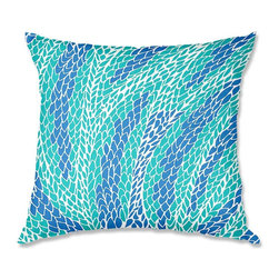 DiaNoche Designs - Pillow Linen - Pom Graphic Design Flying Feathers - Soft and silky to the touch, add a little texture and style to your decor with our Woven Linen throw pillows.. 100% smooth poly with cushy supportive pillow insert, zipped inside. Dye Sublimation printing adheres the ink to the material for long life and durability. Double Sided Print, Machine Washable, Product may vary slightly from image.
