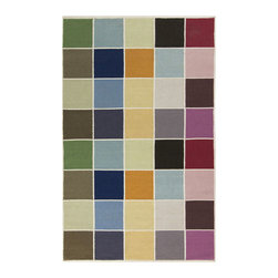 Square Spectrum Rug - Add this appealing Square Spectrum Rug to any room in your home that could use a pop of color or style. Hand-tufted in India from 100% wool, the rug offers quality without forsaking personality.