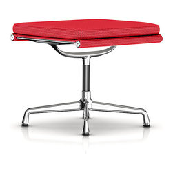 Herman Miller - Herman Miller Eames Soft Pad Ottoman, Fabric - The ultimate in sleek for your living room or lounge area, this padded ottoman is a functional masterpiece. It features a streamlined surface with a super-soft top cushion, all supported by a beautiful curved base.