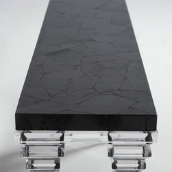 Hematite Coffee table - A different coffee table done using Forza (hematite) from our gemstone surfaces collection.