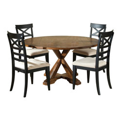 Liberty Furniture Hearthstone 60 Inch Round Drop Leaf Dining Table