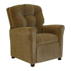 Dozydotes 4-Button Kid Recliner - The Dozydotes Casual 4-Button Child Recliner is the perfect place for your child to relax after a long day of school. This perfectly sized recliner is designed with kids in mind and is covered in a durable fabric available in a variety of colors. The classic 4-button back design will complement the sophisticated decor of your home while providing excellent support. This attractive chair features plenty of padding a reclining back and an extending foot rest for amazing comfort for your child. A sturdy hardwood frame will keep this chair in great shape for years to come and the steel reclining mechanism is fully concealed to prevent pinched fingers.About DozydotesDozydotes' mission is to bring joy to children and confidence to shoppers which Dozydotes achieves by offering exclusive designs and high quality products. The brainchild of experienced mother Rene Campbell and elementary educator Alisa Clark-Slodoba Dozydotes aims to bring smiles to the faces of children and parents alike with fun creative products. Designed with kids in mind Dozydotes recliner chairs are miniature versions of the real thing and are equally attractive meaning your child will have a custom-sized chair that will look great in your home.