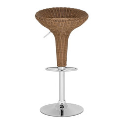 Safavieh - Safavieh Monicka Wicker Brown Barstool X-A5257XOF - Assembly is required
