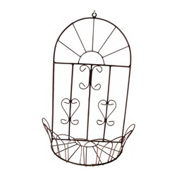 Iron Wall Flower Basket -
