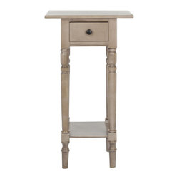 Safavieh - Safavieh Donna Wood Night Stand in Grey - Safavieh - End Tables - AMH5704A - Donna vintage grey night stand features a contemporary style and functional design. Constructed with a sturdy Wood Frame in a versatile grey hue this will be a welcome addition as a night stand or end table in any room. Drawer's storage space measures 3.9 in. H. x 7.7 in. W. x 10.8 in. Assembly required