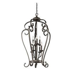 Kichler 8-Light Foyer Lanterns - Olde Bronze - Eight Light Foyer Chain Hung
