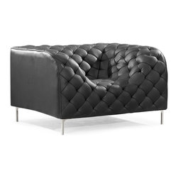Zuo Modern - Zuo Modern Providence Modern Armchair X-072009 - Like a grand piece of art, the Providence set dramatically changes any room. The set is wrapped and tufted in a leatherette with chrome legs.